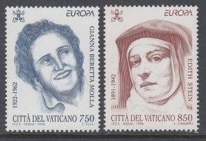 Vatican City 1009-1010 MNH VF