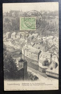 1904 Luxembourg Picture postcard Cover pfaffenthal View From niedergrünewald