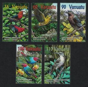 Vanuatu Birds Honeyeater Starling White-eye Parrot 5v SG#848-852