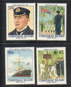 Christmas Island Sc 214-17 1988 Annexation of Island stamp set mint NH
