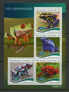 TOGO 2019 FROGS  SHEET MINT NEVER HINGED