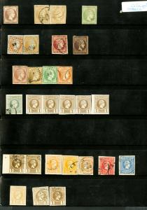 Greece Stamps Early Herman Heads 70x Mint/Used on page
