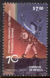 MEXICO 2821, Children's Hospital, 70th Anniversary. MINT, NH. VF.