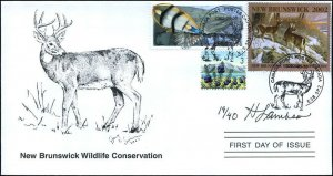 2002 New Brunswick Wildlife White Tail by H Lambson