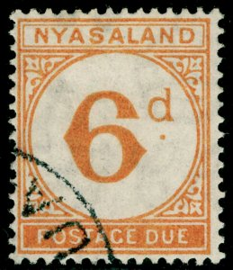 NYASALAND PROTECTORATE SGD5, 6d yellow-orange, VFU. Cat £160.