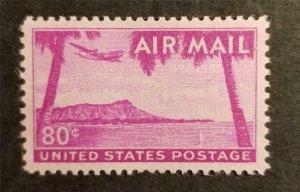C46 80c Hawaii Diamondhead Stamp MNH OG Mint Never Hinged Unused G2714
