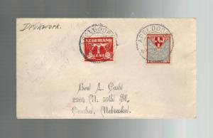1935 Apeldoorn Netherlands Airmail Cover to USA