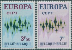 Belgium 1972 SG2271-2272 Europa set MNH