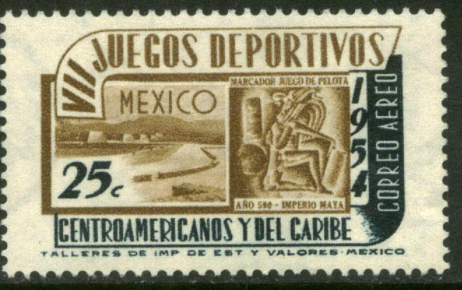 MEXICO C222, 25¢ 7th Central Am & Caribb Games. MINT, NH. F-VF.