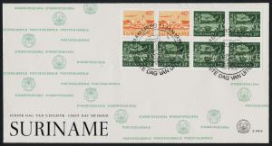 Surinam C77b Booklet Pane 3aq on FDC - Ships, Lighthouse, Aircraft