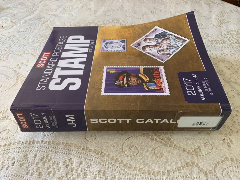 Scott 2017 Standard Postage Stamp Catalogue Vol 4 J - M Countries ExLibrary