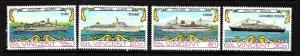 St Vincent-Sc#371-4-unused NH set-Cruise Ships-1974-