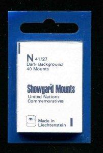 Showgard Black Stamp Mounts N 41/27 PreCut  (40 count)