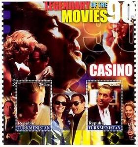 Feature Film Casino on Stamps - 2 Stamp  Sheet  - M0192