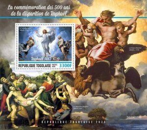 Togo Art Stamps 2020 MNH Giovanni Battista Tiepolo Paintings 1v S/S