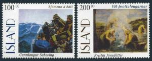 Iceland 816-817,MNH.Michel 842-843.Paintings 1996.Gunnlaugur Scheving,Jonsdottir