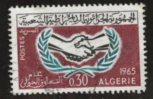 ALGERIA Scott 337 Used ICY stamp 1965