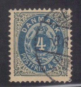 DENMARK SC# 26 USED 4c 1875-79   SEE SCAN