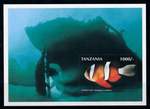 [78241] Tanzania 1998 Marine Life Clown Fish Souvenir Sheet MNH