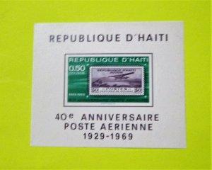 Haiti - C373 MNH Imperf. S/S. 40th Anniversary Air Post. SCV - $9.00