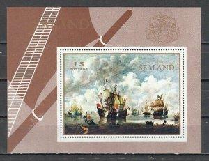 Sealand, Local issue. Tall Ships s/sheet. ^