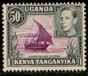 KUT Sc#79a (SG#144) 1938 KGVI 50c Perf Variety Mint Hinged