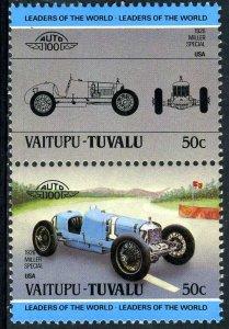 Tuvalu Vaitupu 1985 CAR MILLER SPECIAL 2 values Perforated Mint (NH)