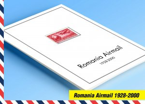 COLOR PRINTED ROMANIA AIRMAIL 1928-2000 STAMP ALBUM PAGES (56 illustrated pages)