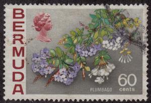 BERMUDA Used Scott # 269 Flowers pencil # (1 Stamp) -2