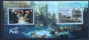 ISLE OF MAN MINIATURE SHEET 2005 NELSON  JOINT ISSUE WITH GIBRALTAR.