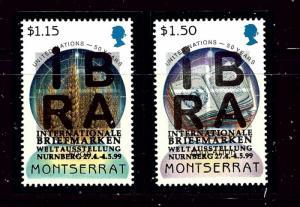 Montserrat 968-69 MNH 1999 Overprints