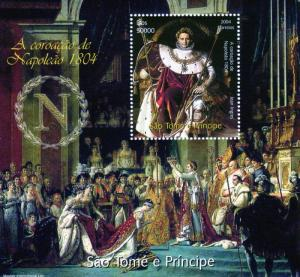 Sao Tome & Principe 2004 NAPOLEON INGRES PAINTING s/s Perforated Mint (NH)