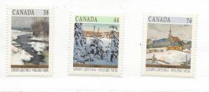Canada, 1256-58, Christmas 1989 - Winter Lzndscapes, MNH