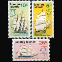 TOKELAU 1970 - Scott# 22-4 Discovery of Tokelau Set of 3 NH