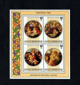 COOK IS - 1985 - CHRISTMAS - MADONNA & CHILD - BOTTICELLI - MINT MNH S/SHEET!