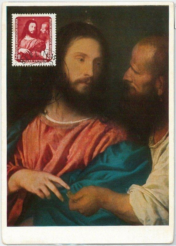 57241  -  GERMANY  DDR  - POSTAL HISTORY: MAXIMUM CARD  -  ART  Tiziano