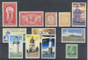 New Zealand Sc B8/MR1 MLH. 1915-69 Back of Book sets & singles. 12 diff, F-VF