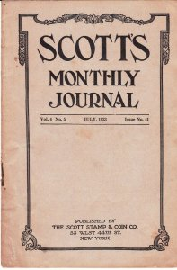 Scott's Monthly Journal July 1923 Stamp Collecting Magazine