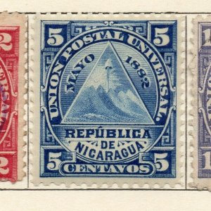 Nicaragua 1882 Early Issue Fine Mint Hinged 5c. NW-114601