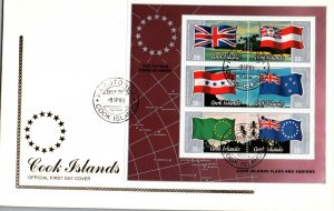 Cook Islands 737c Souvenir Sheet U/A FDC