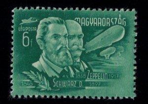 Schwarz D.& Graf Von Zeppelin 6f Airpost Stamp Hungary Unused - MLH