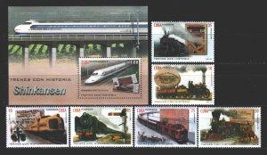 Cuba. 2016. 6091-96, 338 Bl. Bridge, train. MNH.