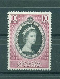 Malaya - Malacca sc# 27 mhr cat value $1.80