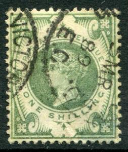 GREAT BRITAIN # 122 Fine Used Issue Partial CDS - QUEEN VICTORIA - S5600