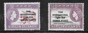British Virgin Islands  (1968)  - Scott # 190 - 191, MNH