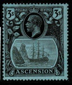 ASCENSION SG20 1924 3/= GREY-BLACK & BLACK/BLUE MTD MINT