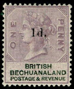 BECHUANALAND SG22, 1d on 1d lilac & black, M MINT.