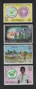 TUVALU #176-179 1982 SCOUTING YEAR MINT VF NH O.G