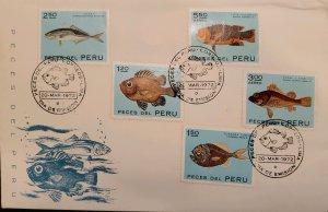 O) 1972 PERU, FISH, POPEYE CATALUTA, GUADARA, JACKS, PONTINUS, HOGFISH, NICE ...