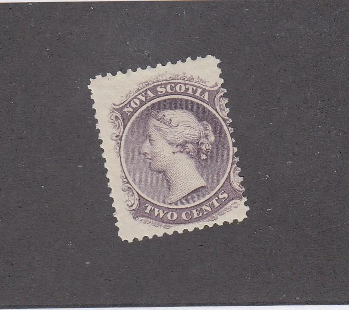 NOVA SCOTIA # 9 F-MH 2cts  Q/VICTORIA LILAC  CAT VALUE $15